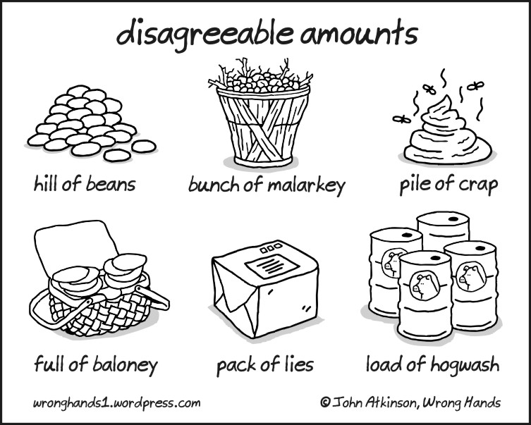 disagreeable amounts wrong hands