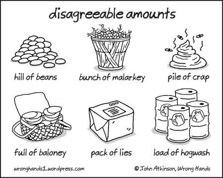 disagreeable amounts