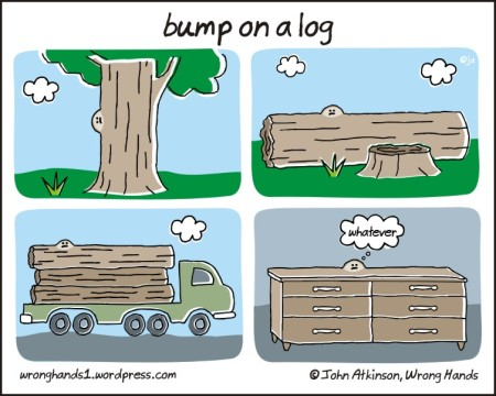 bump on a log