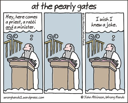 at the pearly gates