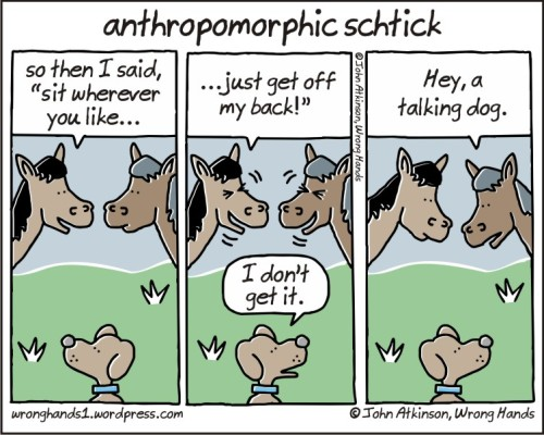 anthropomorphic schtick