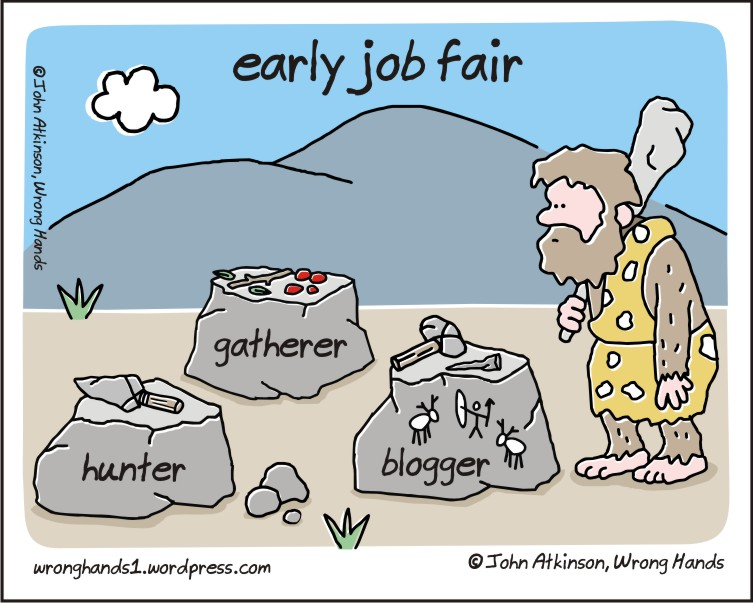 Early Job Fair - Blogging Comic