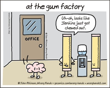 at the gum factory