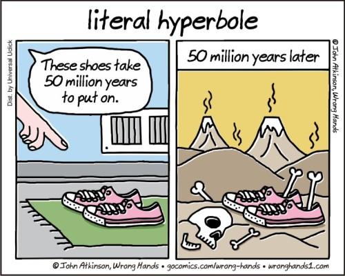 literal hyperbole