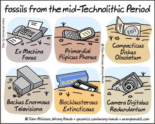 Technolithic fossils