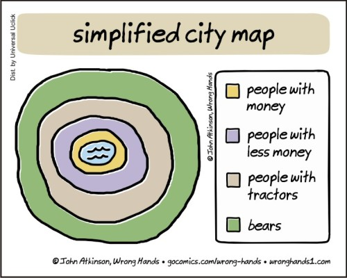 simplified city map