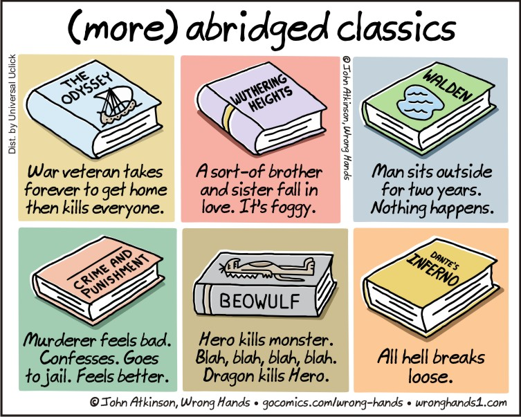 Image result for (more) abridged novels