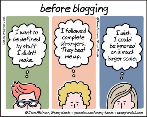 before blogging