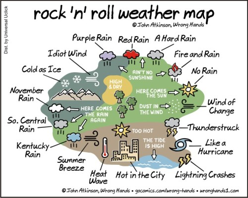 rock n roll weather map