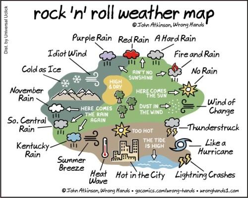 rock n roll weather map