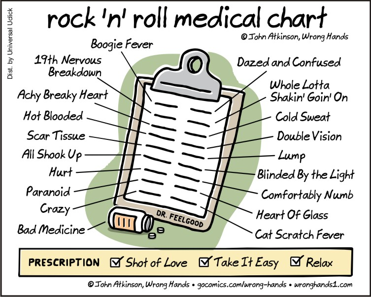 Rock 'N' Roll Medical Chart | Wrong Hands