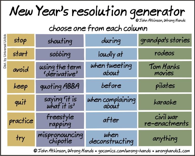 New Year\'s resolution generator | Wrong Hands