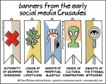 banners from the early social mediacrusades