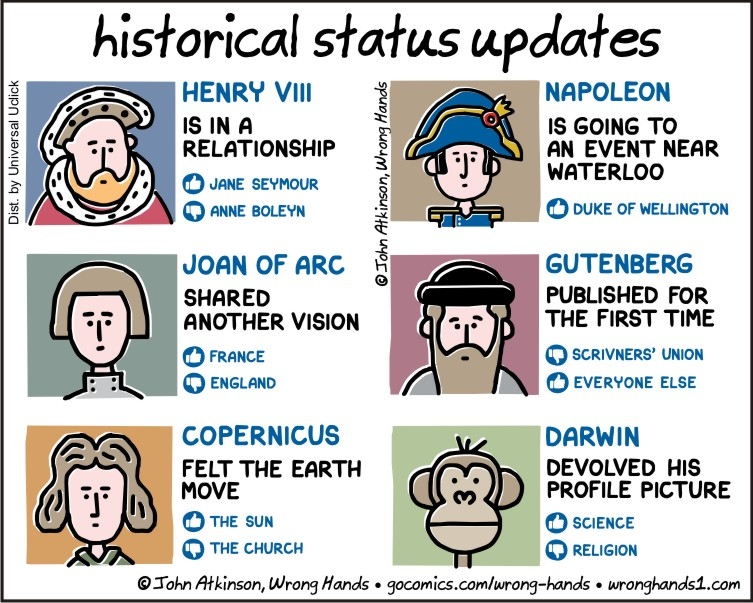 Historical Status Updates Wrong Hands