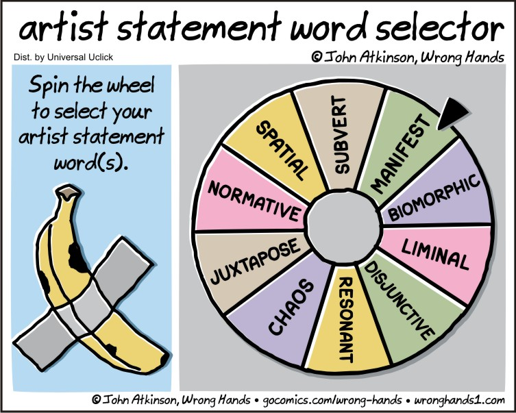 artist statement word selector