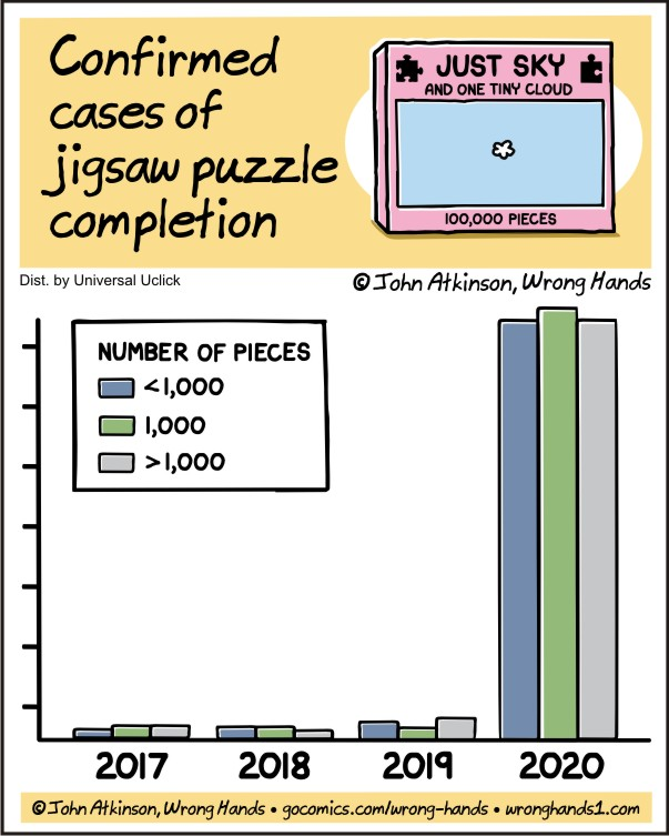 Confirmed cases of jigsaw puzzle completion