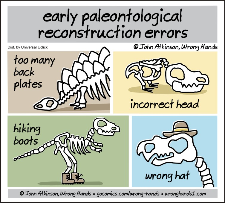 early paleontological reconstruction errors