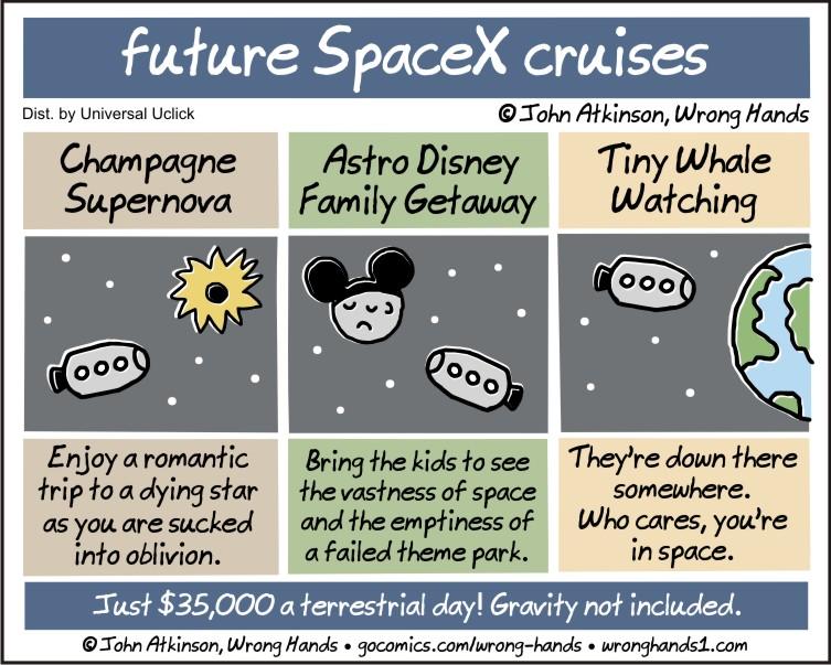 future SpaceX cruises