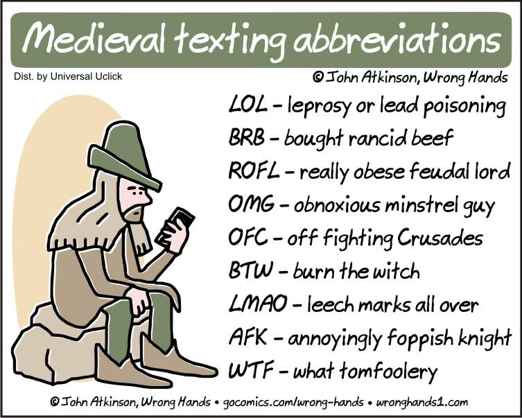Medieval texting abbreviations