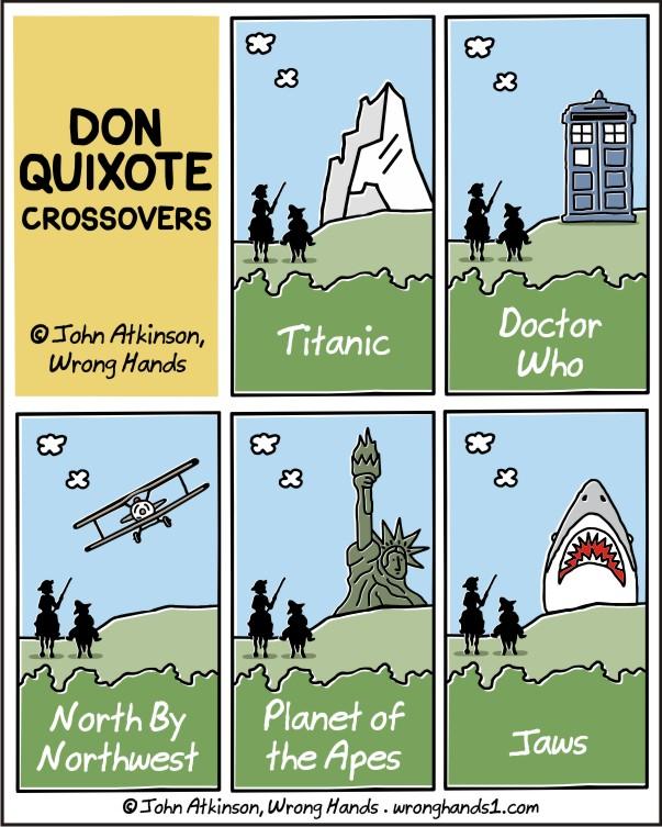 Don Quixote crossovers