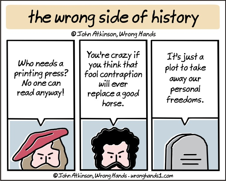 the wrong side of history