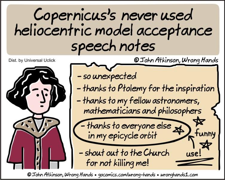 Copernicus's notes