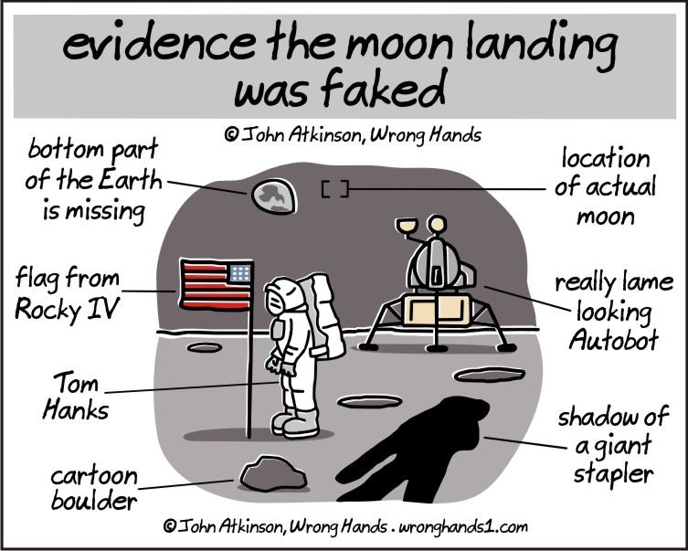 evidence the moon landing was faked
